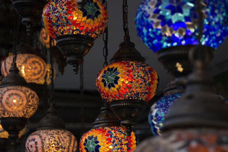 Colored Glass Colors Decorative Lights Lamps Turkish Lamp
