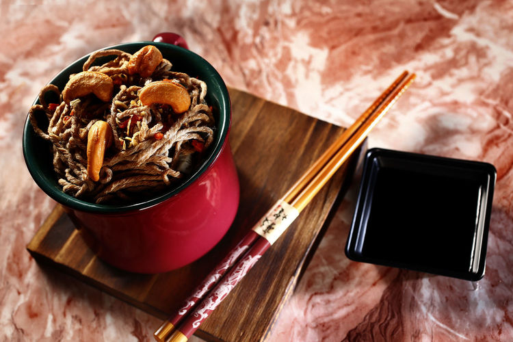 yakisoba Food Food And Drink Close-up No People Indoors  Healthy Eating Freshness Ready-to-eat Still Life High Angle View Table Yakisoba Bowl Kitchen Utensil Cup Mug Chopsticks Drink Spoon Eating Utensil Wellbeing Meal Tray Breakfast Snack Crockery Shoyu