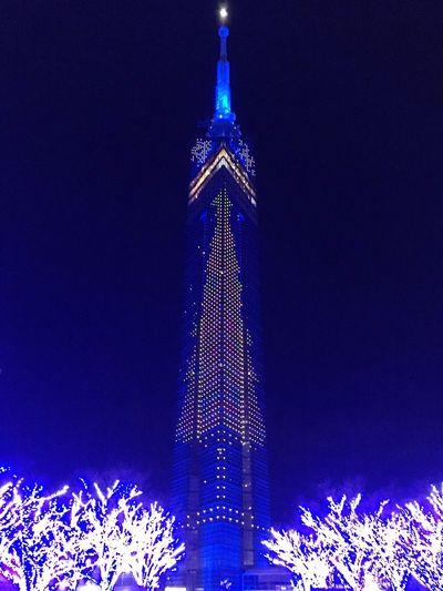 HUKUOKAtower Japan Hukuoka Hukuoka, Japan Japan Photography Japanese  Tower Winter Tall - High Illuminated Night Tall Day Beautiful City EyeEmNewHere Be. Ready.