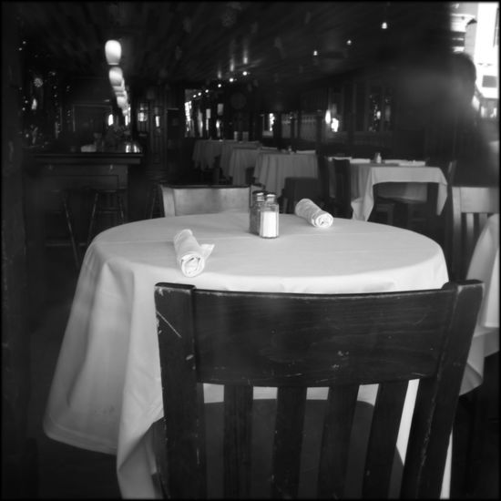 Table For Two Monochrome Eating Out WashingtonDC