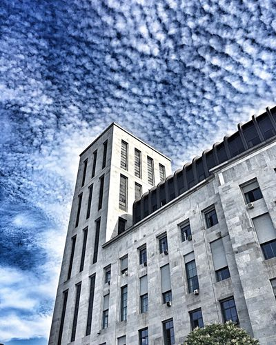 Architecture Built Structure Low Angle View Window Building Exterior Cloud - Sky Sky No People Day Sky And Clouds Cityscape Milano Milan Italy Milan Skyscraper Sky_collection Skyporn Cielo Cloud Clouds View Views Lombardia Italy Italia