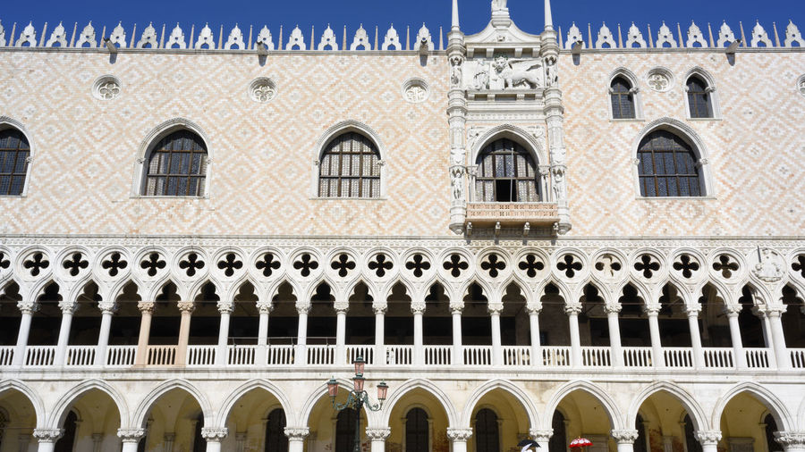 Low angle view of historical doge's palace  building