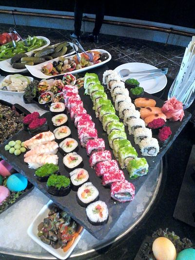 Sushi Seafood Beatiful Colors