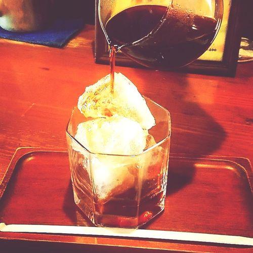 愛すコーヒー。 #自家焙煎珈琲こもろ Drink Ice Cube Drinking Glass