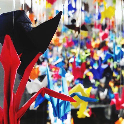 1000 grullas de un amor en el olvido Birds Color Explosion Relaciones Rotas Papel