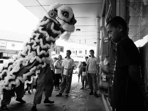 Adapted To The City People Teamwork Chinese New Year SUVA FIJI ISLANDS Streetphotography Blackandwhite Black & White Street Photography The Street Photographer - 2017 EyeEm Awards