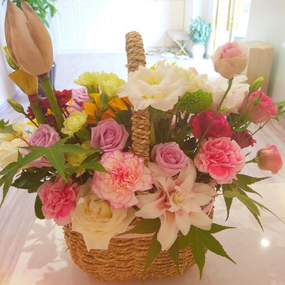 Flower Bouquet Gift Celebration Indoors  Vase Table Variation Day No People Wrapping Paper Flower Head Close-up Freshness Summer Optimistic Sunshine