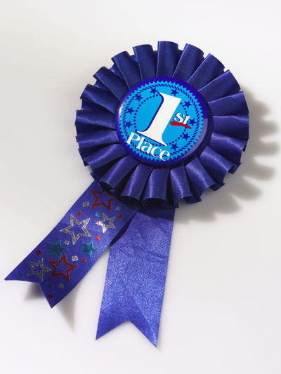 medal award 1 1st AWARD Achieve Achitecture Blue Ribbon First First Place  Number One Circle Close-up Competition Cut Out First Prize High Angle View Indoors  Medal No People Ribbon - Sewing Item Shape Single Object Studio Shot White Background