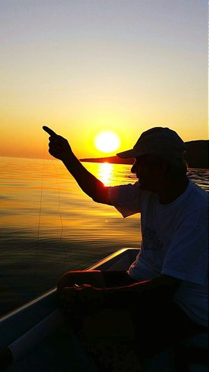 Turkey Turkey Avsaadasi Sea And Sky Sunset Nature_collection Ships⚓️⛵️🚢 Last Days Of The Summer Oldman Fisherman End Of Summerwater reflections