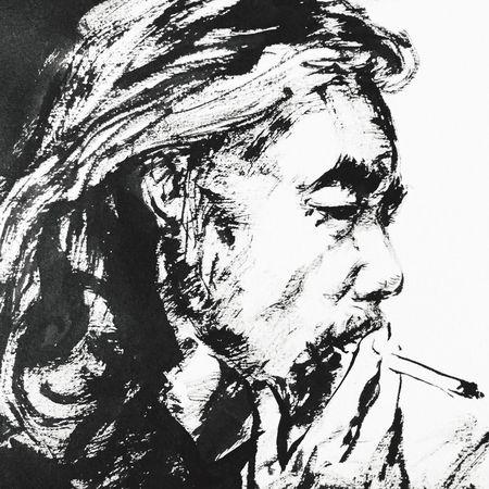 Smoker Ink Drawing Drawing Artworks Ink Sketch Drawings Drawingsbyme Black & White