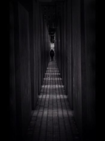 The Way Forward Walking One Person Architecture Monochrome Eye4photography  Eyeforphotography Mono Perspective