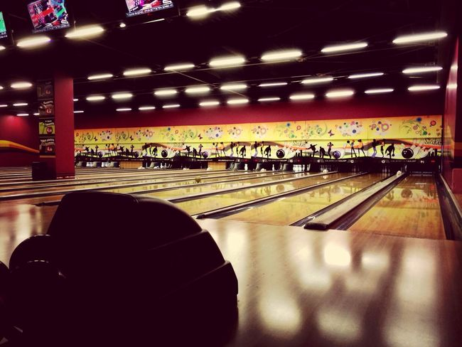 Make sone strike ;) IPhoneography Bowling(: CoolNight