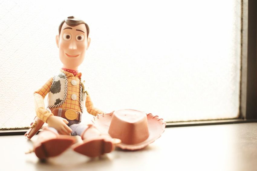 Indoors  Home Interior Figurine  Full Length Table Childhood One Person Day People Disney Woody Toy Toystory Toyphotography