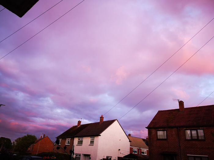 Sunset tonight Cloud - Sky Built Structure Building Sky Low Angle View House Pink Color Residential District No People Beauty In Nature Nature