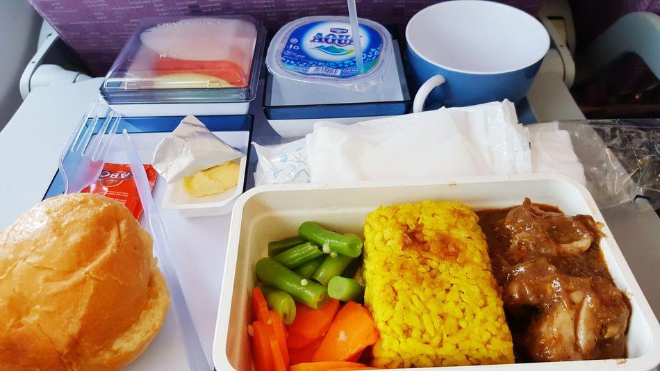 Breakfast Onthesky Oktober 2016 Onedaytrip Singapore Holiday ChinaAirlines Indonesian Food Nasikuning Oporayam