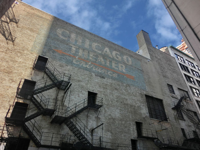 Chicago Chicago Theater Architecture Building Exterior Built Structure Cloud - Sky Day History Low Angle View No People Outdoors Sky