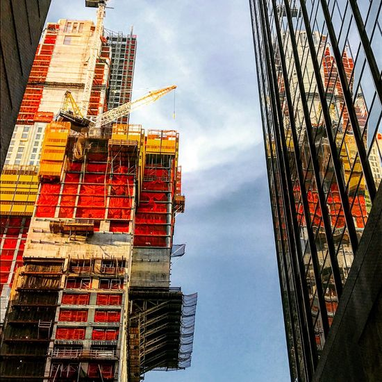 Architecture Low Angle View Sky Built Structure Building Exterior Construction Site Day Outdoors Cloud - Sky No People City Modern Skyscraper First Eyeem Photo