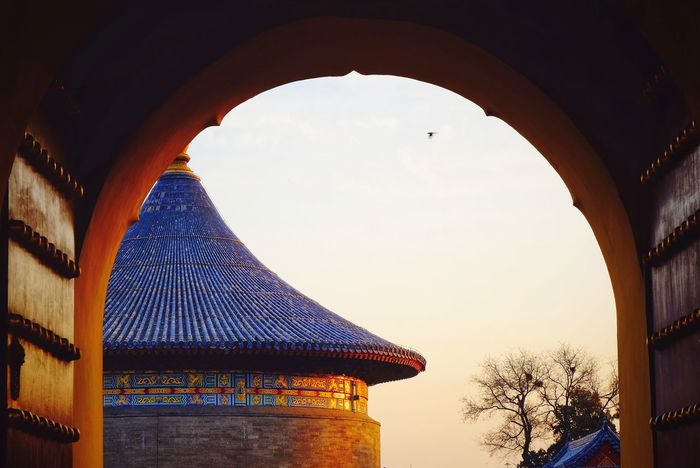 Arch Architecture Travel Destinations History Built Structure Day Sky Warm Colors Palace Light And Shadow FUJIFILM X-T10 Beijing, China Temple Of Heaven Park Warm Light Royalty Building Exterior Sunset Outdoors Cloud - Sky Travel Silhouette Architecture Low Angle View Warm Winter Sunlight