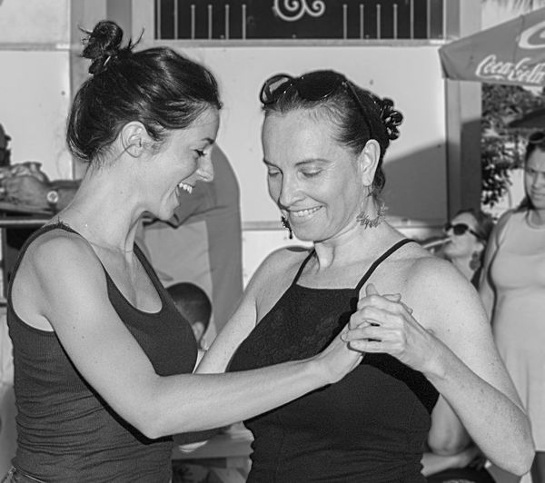 Blackandwhite Candid Candid Photography Dancers Dancing Expression Streetphotography Tango Two People Waist Up Women