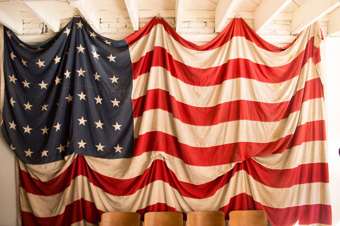 American Dream American Flag Americana Full Frame Hanging Home Interior Indoors  Photo Photography Symmetry Textile Variation Vintage Wall