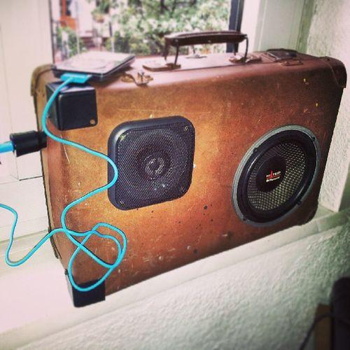 Shabby Boombox Suitcase Juicies