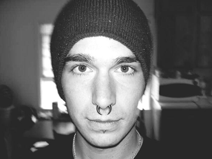 Self Portrait Selfies Face Beenie Eyes Nose Piercing Body Jewelry
