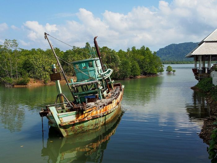 Thailand Koh Chang Boat Shipping  Old Water