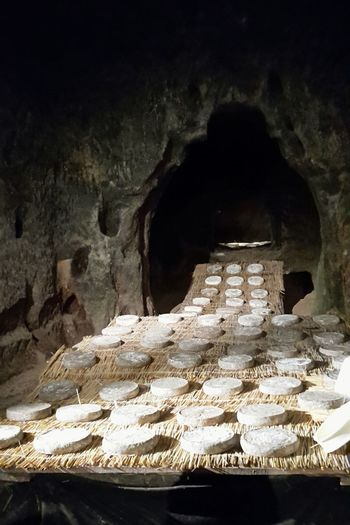 Traditional Repining of Saint Nectaire Cheese in a Natural Cave for 4 to 8 weeks. Old Tradition Auvergne Showcase July Beautifully Organized The Traveler - 2018 EyeEm Awards