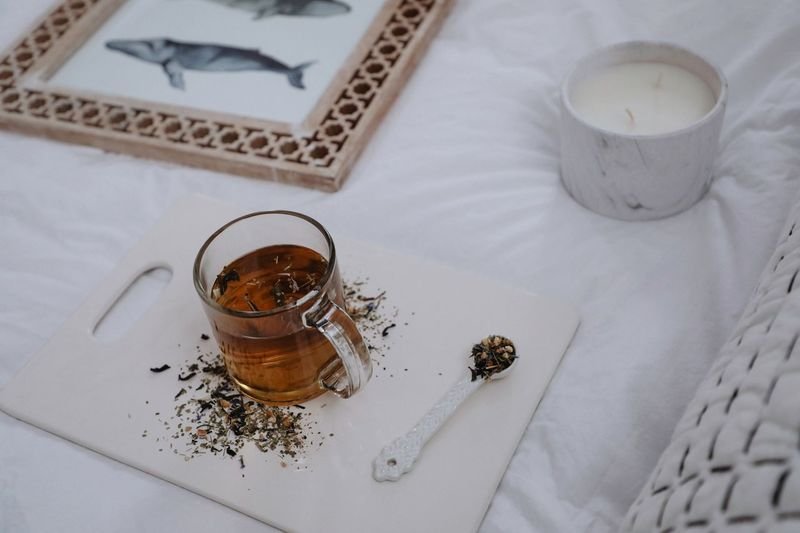 Tea Art Whale Tea High Angle View Table Drink Indoors  Refreshment Food And Drink Drinking Glass No People Close-up Freshness Day