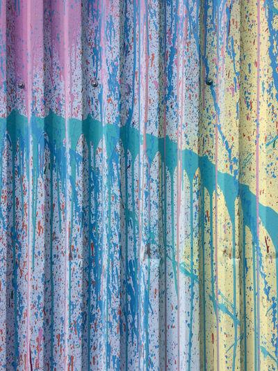 Full frame shot of weathered corrugated iron