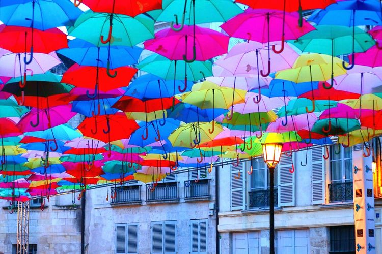 EyeEm Selects Multi Colored Orléans Région Centre France Festival De Loire Septembre 2017 Canonphotography Lovephotography  Colorful Parapluies Umbrella Umbrellas In The Sky Ma Ville Est Belle Jolie Vue Regarder En L'air Love This  Fun