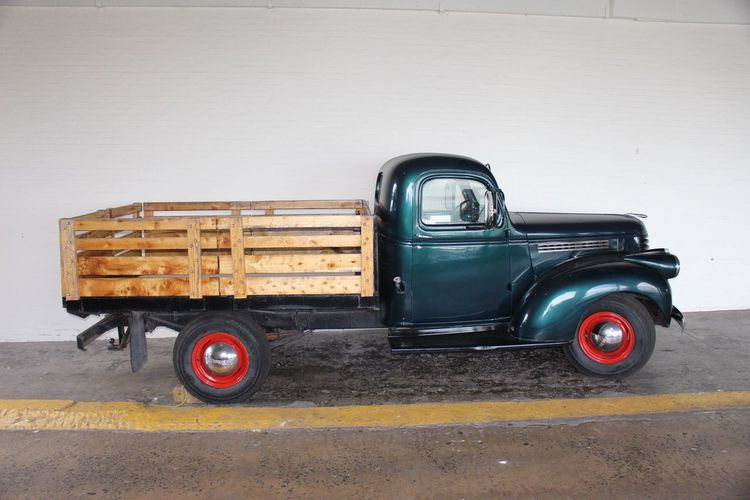 Old American vintage Land Vehicle cars Truck Mode Of Transport Transportation Stationary No People Semi-truck Day Outdoors