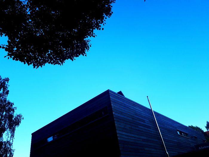Rudervereinshaus Winterhude Hamburg Sonnig Sunset Winterhude Jarrestadt Sunny Ruderverein Bootshaus Canalview Blue Sky Wood Facade Tree Outside ARTfoxHH Blue Sky Architecture Built Structure Skyline Woods Building