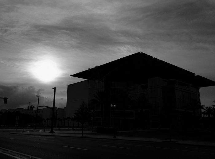 Sun rise over the new performing arts center in Downtown Orlando  Florida Life Architecture Sky Building Exterior Built Structure No People Cloud - Sky Silhouette Outdoors Nature Day Nature Blackandwhite Orlando Florida Downtown Bratini Leonidas Sunlight Street City Sunrise Architecture Orlando