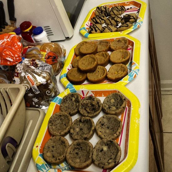 Baked Cookies why because I can thanks to Target and their Pillsbury Deal Coupons Sweets we have Hersheys CookiesnCreme Reeses Pieces Smores