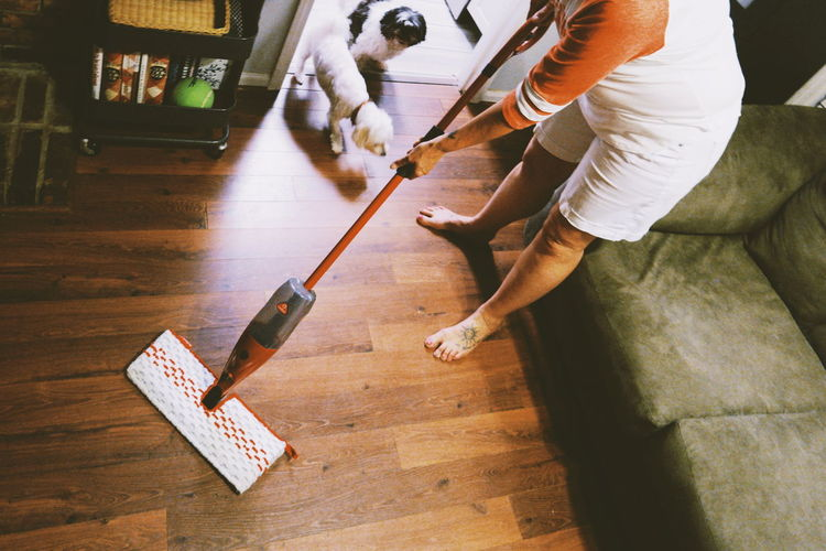 Cleaning Equipment Human Hand Low Section Working Occupation Cleaning Cleaner Domestic Room Hygiene Housework