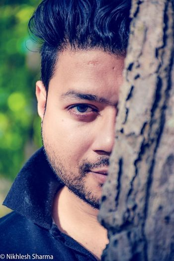 Portrait of youth :) Incredibleindia Portrait Of A Friend Portraitofbrother Portrait Portrait Photography Trees Forrest Bokeh Daylight India Dehradun Blue Eyes