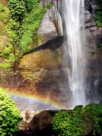Bali INDONESIA Island Life Travel Traveling Wanderlust Beauty In Nature Day Explore Forest Green Color Growth Long Exposure Moss Motion Nature No People Outdoors Power In Nature Rainbow Rock - Object Scenics Sekumpul  Sekumpul Waterfall Sky Tranquil Scene Travel Destinations Tree Water Waterfall