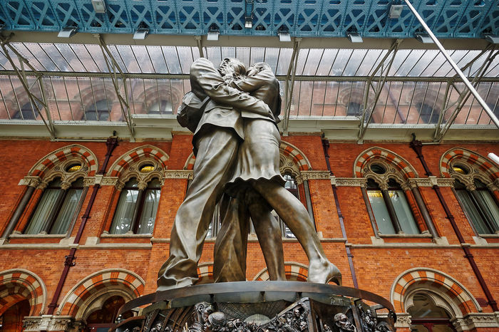St. Pancras Architecture Art And Craft Building Exterior Built Structure Day Human Representation Low Angle View Male Likeness No People Outdoors Sculpture St. Pancras Station Statue