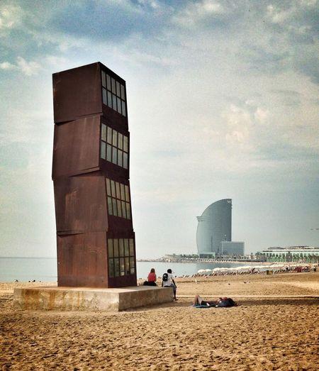 Morning along the beach in Barcelona The Explorer - 2014 EyeEm Awards IPSSpace Barcelona Geometric Shapes