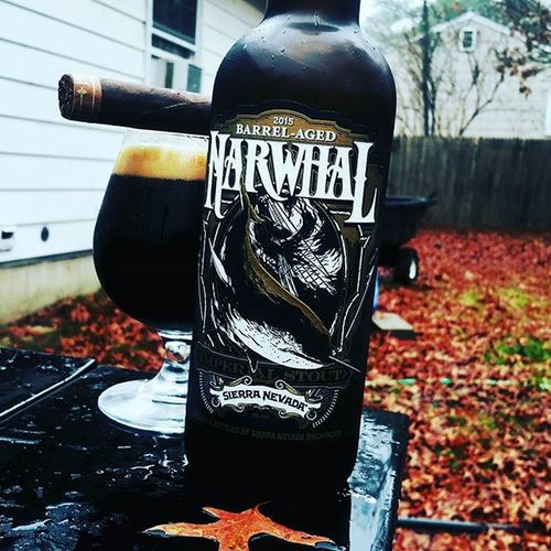 A dark rainy day like today calls for a strong beer and a strong cigar. Sierranevada Barrelaged Bourbon Narwhal Russianimperialstout Craftbeer Beerstagram Craftbrew Instabeer Beerporn Craftbeerporn Cheers Beerstagram Snifter Properglassware Beertography Dieselcigars Cigartography Cigarsofinstagram Cigarporn