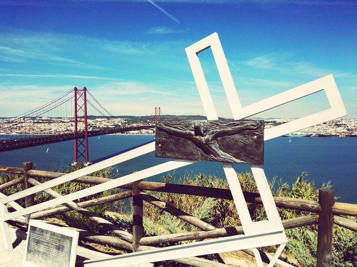 EyeEm Selects Bridge - Man Made Structure Outdoors No People Built Structure Day Architecture Nature City River Tagus Tejo Lisbon Almada Cristo Rei - Portugal 25 Abril Bridge Brıdge Cityscape Cityscape