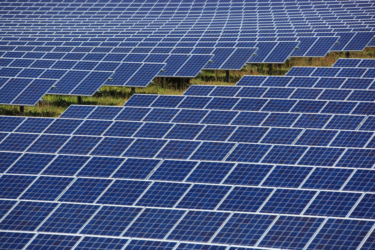 photovoltaic power station, a solar park Alternative Energy Blue Business Economy Electricity  Environment Environmental Conservation Environmental Issues Finance Fuel And Power Generation Nature Outdoors Power Supply Renewable Energy Sky Solar Energy Solar Panel Solar Power Station Sun Sunlight Technology