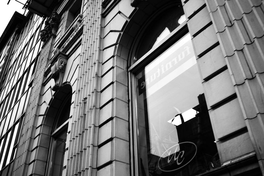 Old Buildings Blackandwhite Built Structure Low Angle View Building Day No People Arch City Outdoors Office Building Exterior