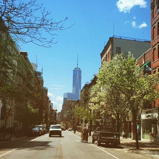 About the Perfect Spring Day Yesterday 😎😍🌳🌲🌱🌸🌷🌼💐🍀 Beautiful Westbroadway Walkingaround Photography Freedomtower Blossom Nature Flowers