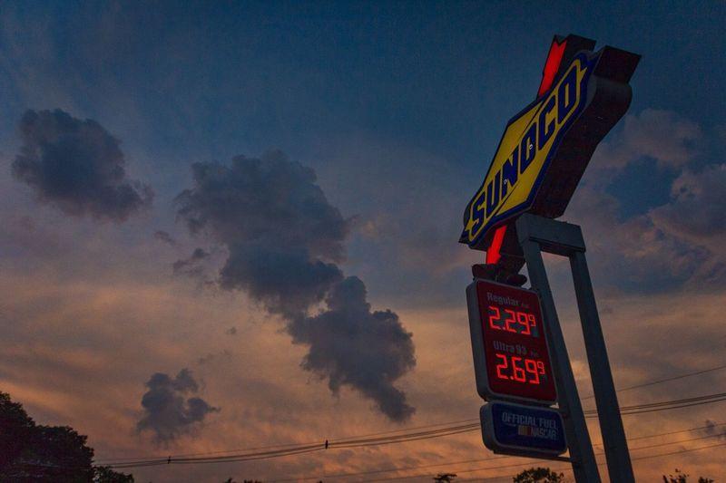 New Jersey EyeEm Best Shots The Week On Eyem Showcase July Showcase: July Sunoco Gas Station Sign Signage Sky Dusk