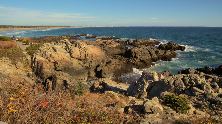 Maine Marginal Way Rocky Coastline Beach Beauty In Nature Cliff Day Horizon Over Water Landscape Nature No People Outdoors Rock - Object Scenics Sea Sky Tranquil Scene Tranquility Travel Destinations Water