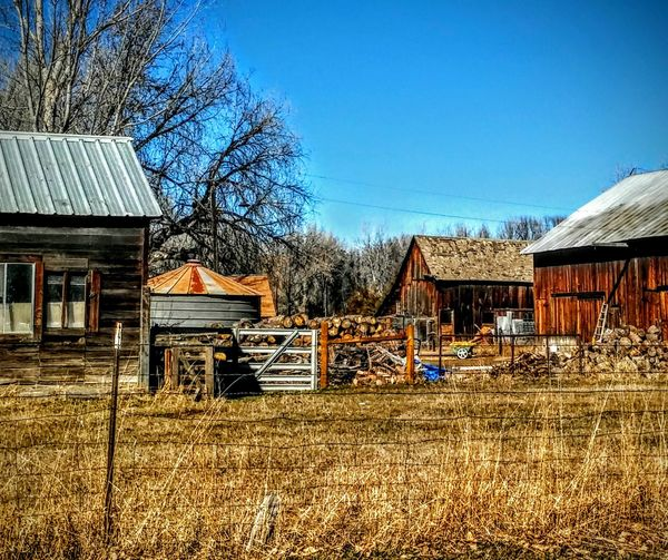 Rustic buildings Abandoned Farm Wintertime Colorado Life Fence Barn Antiques Vintage Farm Equipment Sunny Day EyeEm Country Road old times Winter Morning Rural America American Life Wandering Landscapes With WhiteWall