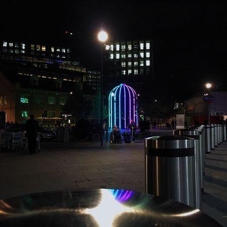 Overnight Success Illuminated Night Outdoors Lens Flare