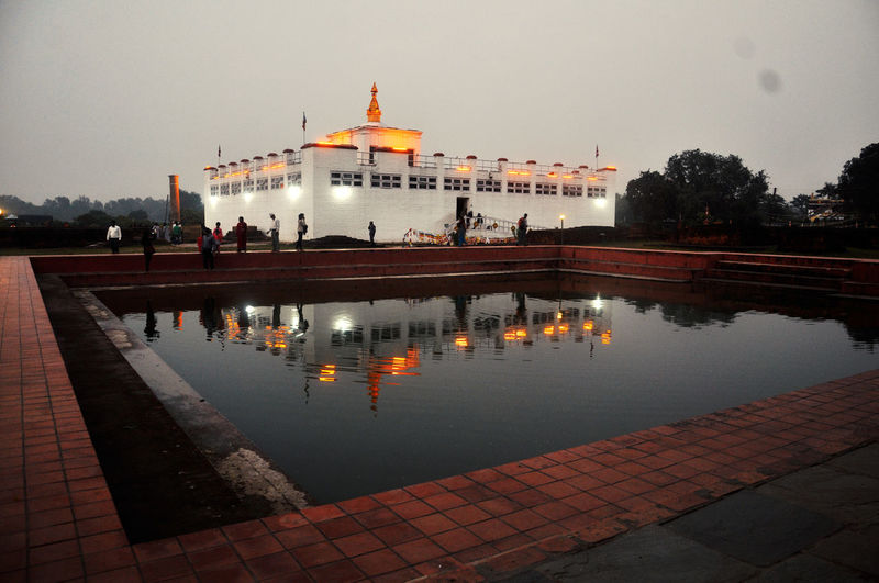 Reflection of Mayadevi Temple on Pushkarani Lake of Lumbini, Nepal. It is believed that Lord Buddha took bath in this pond after his birth. Architecture Birthplace Of Buddha Buddha Lumbini Lumbini, Nepal Mayadevi Temple Reflecting Pool Reflection Water First Eyeem Photo